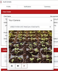 Screenshot capture function - profile no