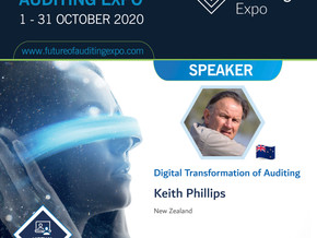 Join Keith - and other speakers - at the VIRTUAL 'Future of Auditing Expo' - online during October.