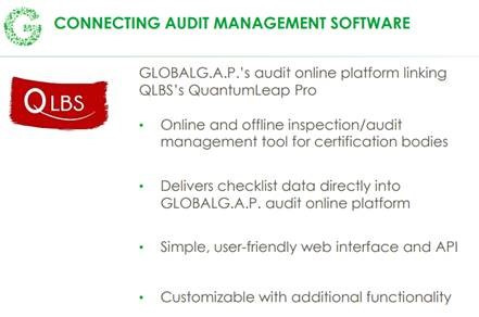 QLBS Connecting Audit Management Software benefits.