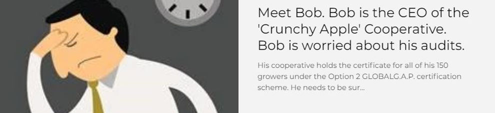 Bob, CEO of food producer looking frustrated