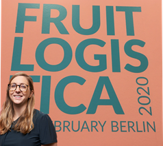 Julie Phillips, QLBS European Project Manager at the Fruit Logistica 2020 conference in Berlin.