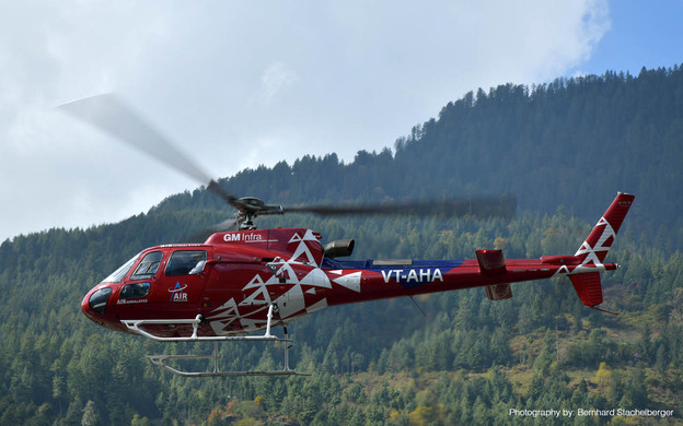 Helicopter sightseeing joyride in Manali