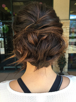 Highlighted Brunette Updo