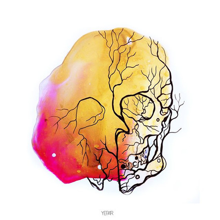 Colored skull !!! #skull #art #artwork #