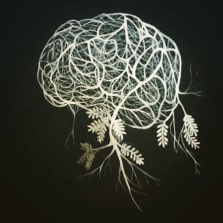 The brain painting #contemporanyart  #bi