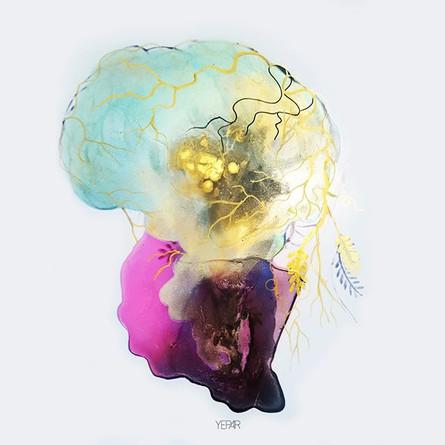 Colored Brain_#instart #art #painting #