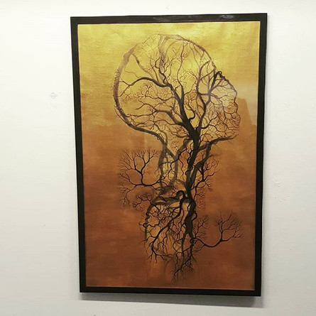 Gold anatomic painting, _espace33culture
