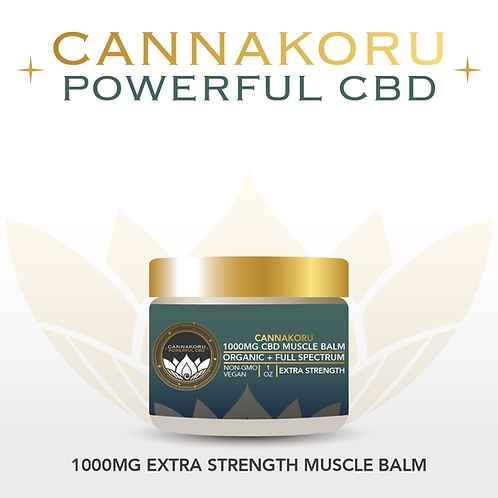 CannaKoru Organic 1000mg Extra Strength CBD Muscle Balm