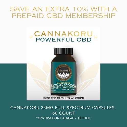 Prepaid Canna Capsule 25 Membership, 60 Capsules