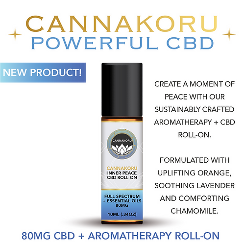 Wholesale CannaKoru Inner Peace Aromatherapy + CBD Roll-On