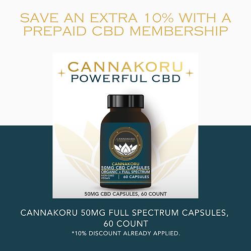 Prepaid Canna Capsule 50 Membership, 60 Capsules