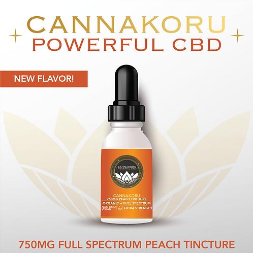 750mg Organic Peach Full Spectrum CBD Oil