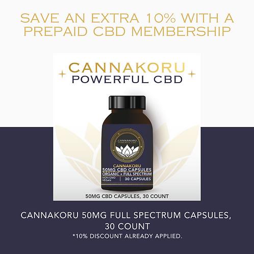 Prepaid Canna Capsule 50 Intro Membership, 30 Capsules