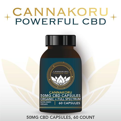 Wholesale CannaKoru Organic 50mg CBD Capsules, 60 Count