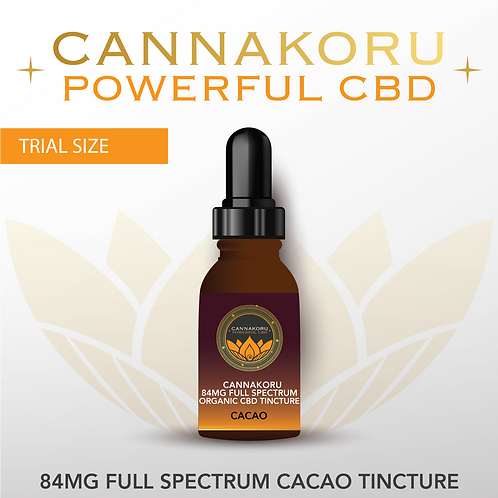 84mg Organic Cacao Extra Strength Full Spectrum CBD Oil
