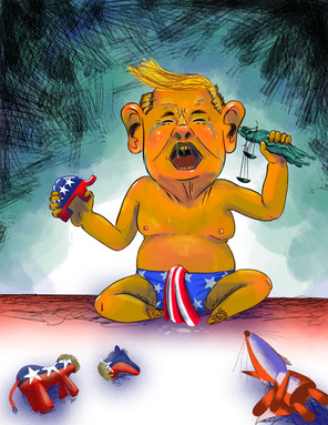 trump being a baby