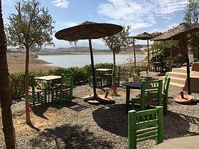 #Restaurant Ô Lac de Marrakech Coté Jard