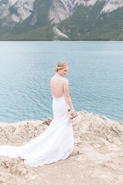 Banff Wedding Lake Minnewanka Photo