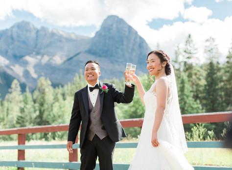 Canmore Wedding Photographer: Canmore Nordic Centre - Frances & John