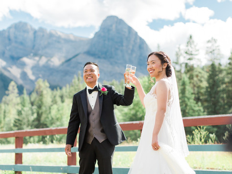 Canmore Wedding Photographer: Canmore Nordic Centre - Frances & John
