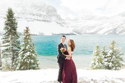 Lake Louise Wedding Photographer Winter Snow Engagement Morraine Lake Bow Lake - 13