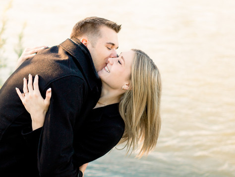 Calgary Wedding Photographer: Downtown Engagement Session - Bethany & Nathan