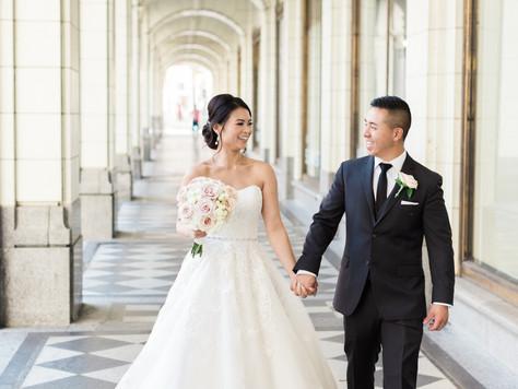 Calgary Wedding Photographer: Arts Commons' Jack Singer Lobby and Silver Dragon - Irene & Ro