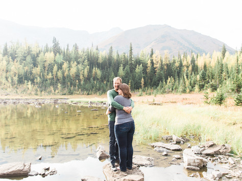Rocky Mountains Engagement Photographer: Kananaskis - Emily & Brandon