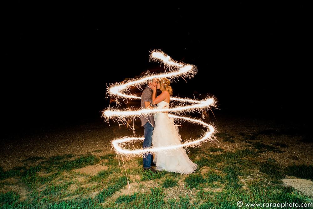 calgary wedding photographer sparklers photo
