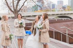 Calgary Wedding Photographer Classic Timeless Bride SAIT Memorial Bow River Riley Park Fur Coat - 77