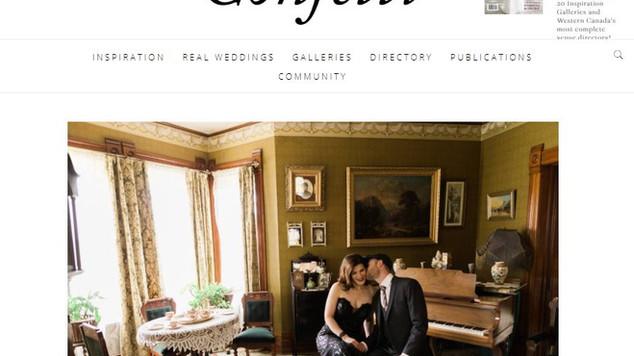 Published on Confetti Wedding Magazine!