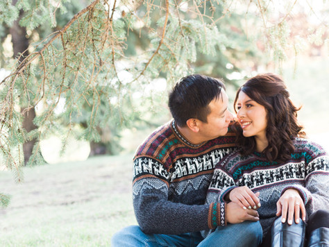 Calgary Engagement Photographer: Lake Bonavista - Lissette & Jon