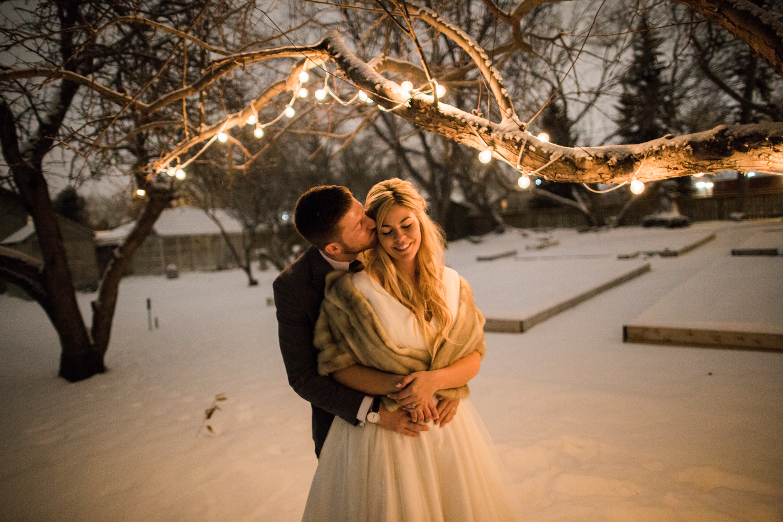 night time calgary wedding