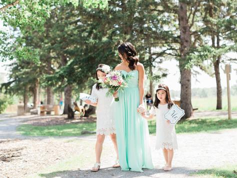 Calgary Wedding Photographer: Summer Wedding at Fish Creek Park's Gazebo and The Baron - Jocelyn
