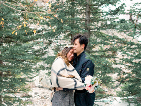 Lake Minnewanka & Moraine Lake Engagement Session: Michele & Allan