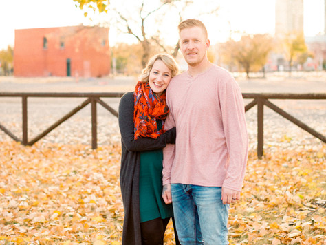 Calgary Wedding Photographer: Karen & Philip - Fall Engagement Session at Rundle Ruins