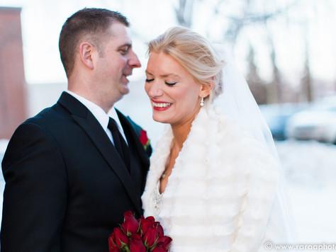Calgary Wedding Photographer: Winter Wedding at St. Joseph Church - Holly & Stan