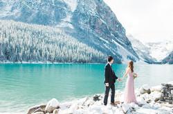 Lake Louise Wedding Photographer Winter Snow Engagement Morraine Lake Bow Lake - 4