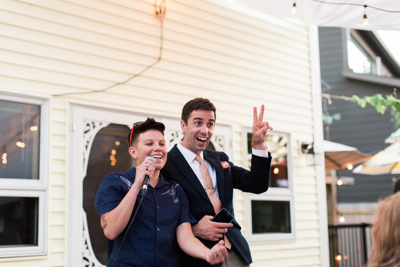 Calgary Wedding Photographer DIY Backyard Intimate Bohemian Wedding - 79