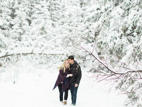 Calgary Engagement Photographer: Bebo Grove Fish Creek Park Winter Wonderland - Gabrielle & Ian