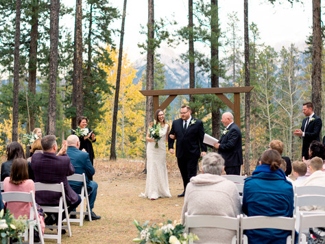 Canmore Wedding Photographer: Canmore Nordic Centre and Quarry Lake - Jocelle & Matt