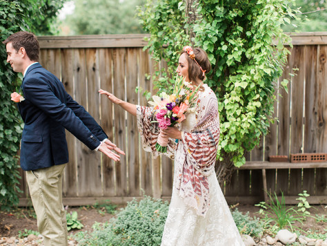 Calgary Wedding Photographer: Intimate Backyard Wedding - Heather & Joey