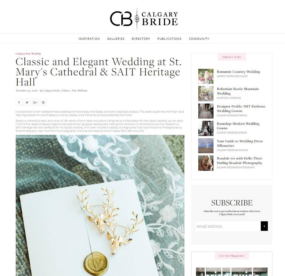 Calgary Bride Feature Calgary Classic Wedding Photographer SAIT Heritage Hall