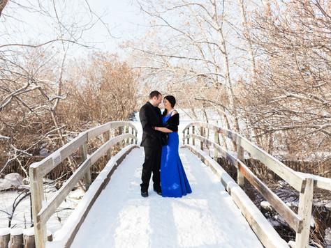 Calgary Wedding Photographer: Marriott Airport In-Terminal - Megan & Greg