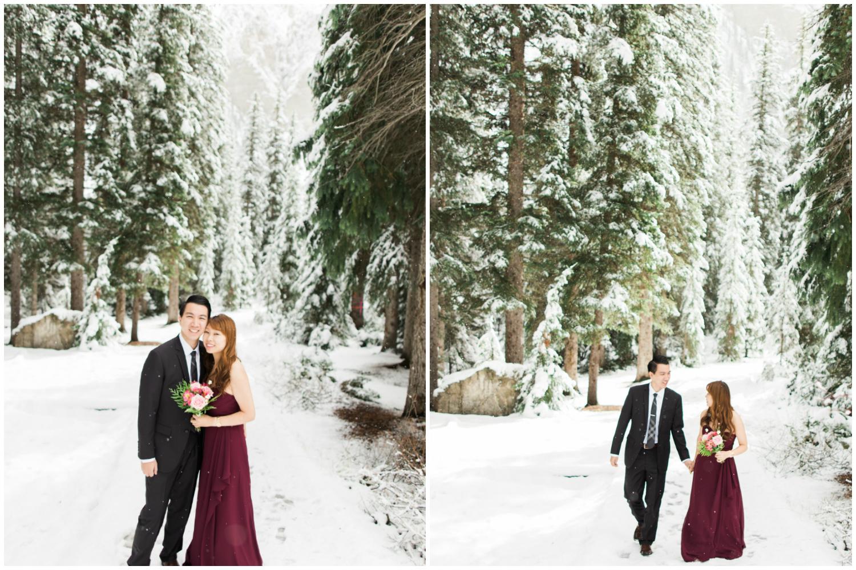 Lake Louise Wedding Photographer Winter Snow Engagement Morraine Lake Bow Lake - 8