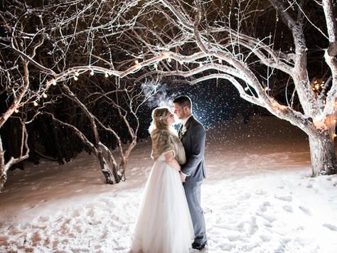 Calgary Wedding Photographer: Winter Wedding at Rouge Restaurant - Charlotte & Leigh