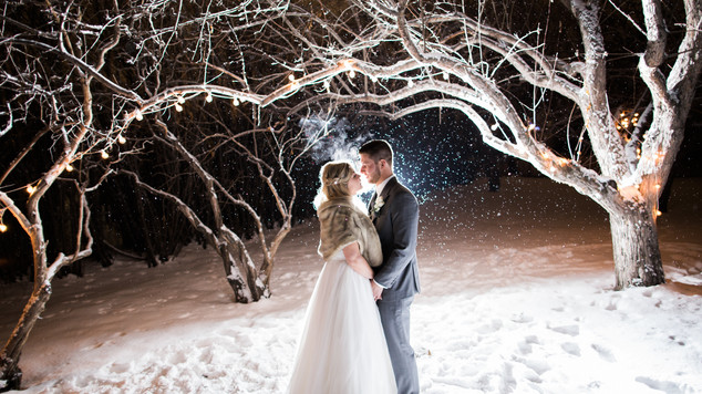 Calgary Wedding Photographer: Winter Wedding at Rouge Restaurant - Charlotte & Leigh