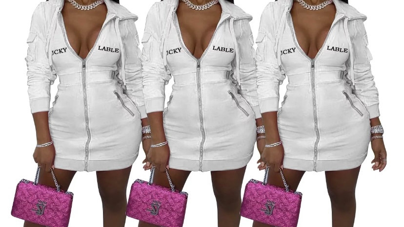 lucky label hoody dress