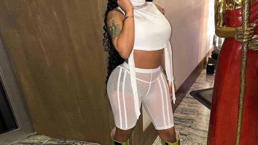 White see through two piece outfit