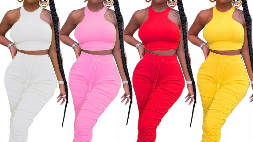 2 piece stacked jumpsuit